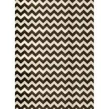 washable chevron black and white 5 ft x 7 ft stain resistant area rug