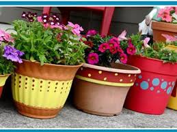 Flower Pot Decoration Designs FlowerPotPaintingPatterns Easy Flower Pot Painting Ideas 2