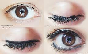 how to apply eyeliner easlily thinly on upper eye lids makeup tricks