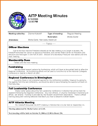 Sample Meeting Minutes Example Of Meeting Minutes Art Resume Skills 11