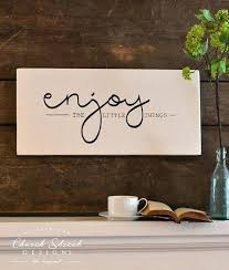 Word Signs Wall Decor Word Signs Wall Decor Kitchen Decor Enjoy The Little Things Modern 94