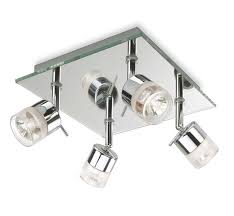 lighting spotlights ceiling. perfect ceiling 6097ch  firstlight ocean 4 light ceiling spotlight in chrome and  mirror glass ip44 rated with lighting spotlights i