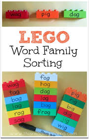These free worksheets are printable and designed to accommodate any lesson plan for reading that includes. Lego Word Family Sorting