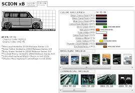 Xb Size Chart Scion Xb Touchup Paint Codes Image Galleries Brochure And