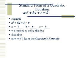 2 quadratic formula