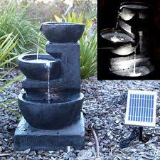 8 Best Solar Powered Water Features Images On Pinterest  Fountain Solar Powered Water Feature With Lights