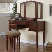 vanity set with mirror and lights. tri folding mirror vanity set makeup table dresser w/ bench 5 drawer cherry wood with and lights i