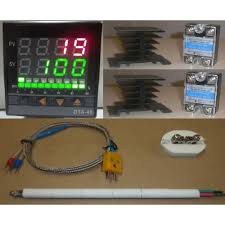complete package pid temperature controller thermocouple probe  complete package pid temperature controller thermocouple probe 2 x ssr relay 40a heatsink for 220v 2 hot line kiln paragon pottery glass annealing