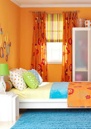 Orange Color For Bedroom Pretty Bedding Set For Girl Idea Feat Blue Shag Area Rug And Bold