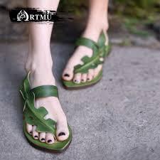 <b>Artmu Original</b> Vintage Personality Flat Genuine Leather <b>Sandals</b> ...