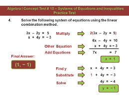 6 3 solve the system of equations