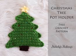 Crochet Christmas Tree Pattern Gorgeous Christmas Tree Pot Holder Pattern Crochet Knit Melody's Makings