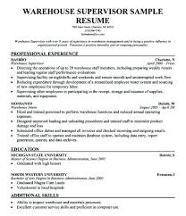 Inventory Management Resume Fascinating Warehouse Manager Resume Sample Sample Warehouse Management Resume