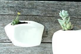 white ceramic wall planter white wall planter angled white wall hanging planter modern planter style white