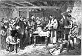 roanoke colony simple english the encyclopedia baptism of virginia dare the first english child born in north america lithograph 1880