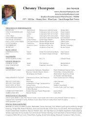 Sample Theater Resume 10 Musical Theatre Nardellidesign Com