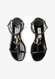 alo flat sandals in nappa and patent