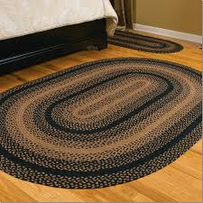 stroud braided rugs on wood flooring for