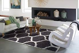 office shag. Ideal Hudson Shag Collection Moroccan Trellis White Gray 5x7 Living Room  Area Rugs Bedroom And Office Shag G