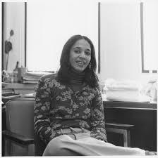 Bernadette Anita Nelson Shapiro seated in her office, ca. April 5 ...