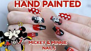 DISNEY NAIL TUTORIAL | MICKEY & MINNIE MOUSE NAILS - YouTube
