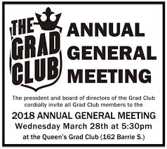 The Grad Club Agm The Grad Club