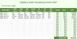 Microsoft Schedule Templates Microsoft Excel Schedule Template Weekly Employee Schedule Template