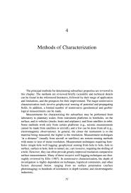 Methods Of Characterization 4 Methods Of Characterization Seeing Into The Earth