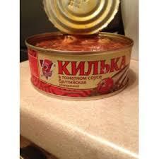 Консервы рыбные <b>5 морей Килька</b> в томатном соусе балтийская ...