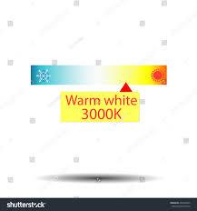 Warm Light Kelvin Kelvin Color Temperature Scale Chart Led Stock Vector