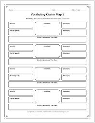 Blank Vocabulary Worksheet Template Free Printable Graphic Organizers For Vocabulary Worksheet