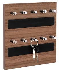 Omega 2 Keyhold - Wall Mounted Key Chain Hanging Board/ Box - Walnut Finsh  ...