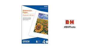 Epson <b>Watercolor Paper Radiant White</b> S041351 B&H Photo Video