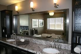 full size of bedroom wonderful silver framed bathroom mirror 23 pleasant triple wall lamp on pastel framed bathroom mirror ideas o72