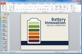 Animated Energy Innovation Powerpoint Template With Battery Shapes