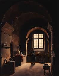 res obscura the domestic life of alchemists the alchemist francois marius granet oil on canvas 18th century a bit more spare on detail but this painting captures the moody contemplation of early