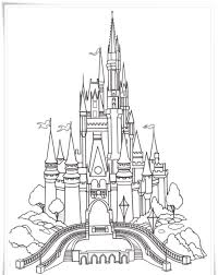 Coloring Cinderella Castle Coloring Pages Printl