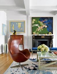 mid century modern sitting chairs. in the new york penthouse of writer jay mcinerney and his wife, anne hearst, mid century modern sitting chairs f