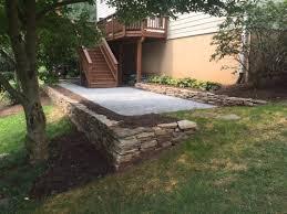 permeable paver patio