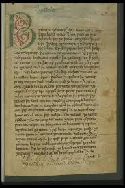 the first page of the peterborough chronicle also known as the e mcript of the anglo saxon chronicle