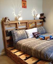 pallet recycled bed fram
