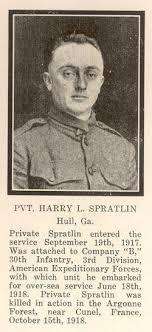 Harry L Spratlin (1895-1918) - Find A Grave Memorial