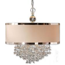 brown drum shade chandelier
