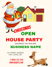 christmas house template christmas open house template postermywall
