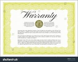 Yellow Retro Warranty Certificate Template With Pattern