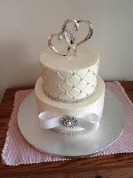 Homemade Anniversary Cakes Small Wedding Cake Cake Decorating