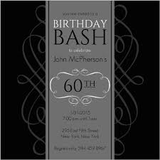 60 birthday invitations black and grey formal soiree 60th birthday invite 60th birthday