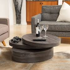 modern furniture coffee tables. the carson oval mod rotating wood coffee table offers a clear late a58cf74037e4fdd5628ae54df18 modern furniture tables