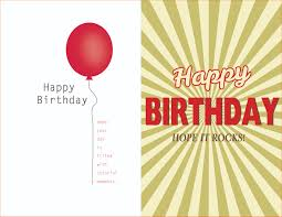 Birthday Card Templet Template Word Quarter Fold Invitation