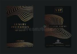 Download Black Gold Luxury Invitation For Event Elegant Greeting ...